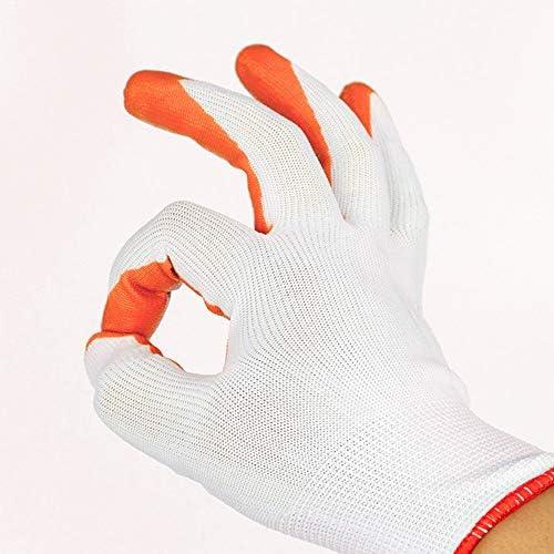 ガーデングローブホームアウトドアツール手袋は傷がつきにくい耐摩耗性の多目的作業用手袋、オレンジ