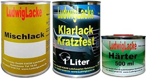 2 5 Liter Set Autolack Klarlack Härter Wunschfarbe Auch Metallic Auto