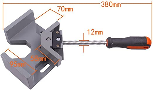 Evwoge 90 Degree Corner Clamp Right Angle Welding Clamp Vise Adjustable Bench Vise Tool