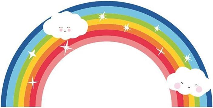 Vosarea adesivi murali arcobaleno e nuvole adesivi murali creativi cameretta cameretta fumetto cameretta casa scuola dormitorio decorazione della parete: Amazon.it: Prima infanzia