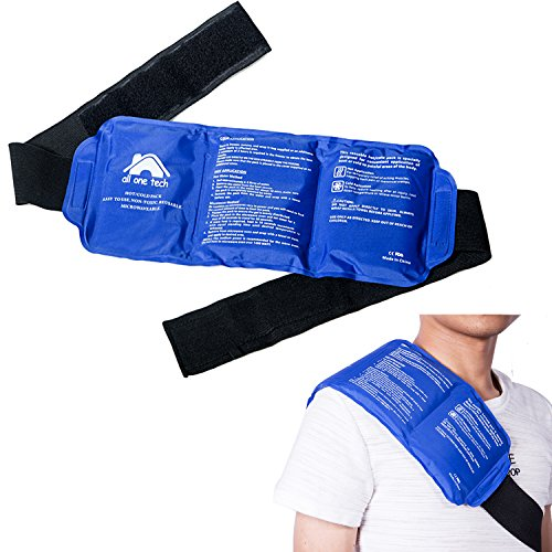 Reusable Ice Packs with Strap for Hot & Cold Compress, Cold Pack Gel Ice Packs for Injuries Back, Knee, Waist, Shoulder, Ankle, Calves and Hip