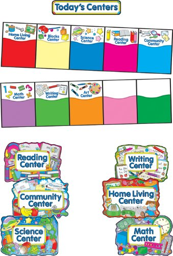 (Carson Dellosa Four Blocks Learning Centers Bulletin Board Set (3454))
