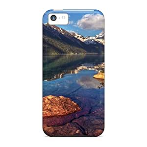 Excellent Design Mountain Lake With Clear Water Case Cover For Iphone 5c