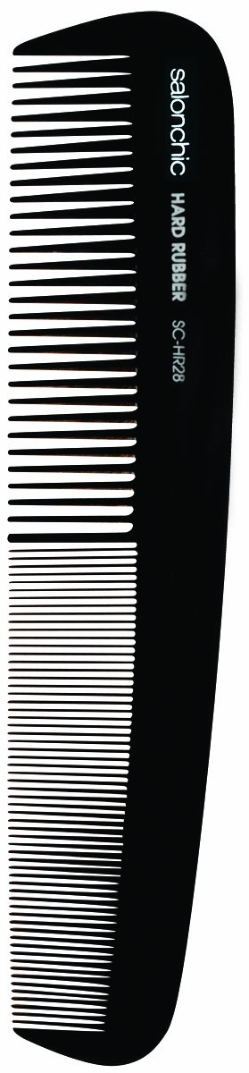 "Salonchic 7"" Marceling Hard Rubber Comb"