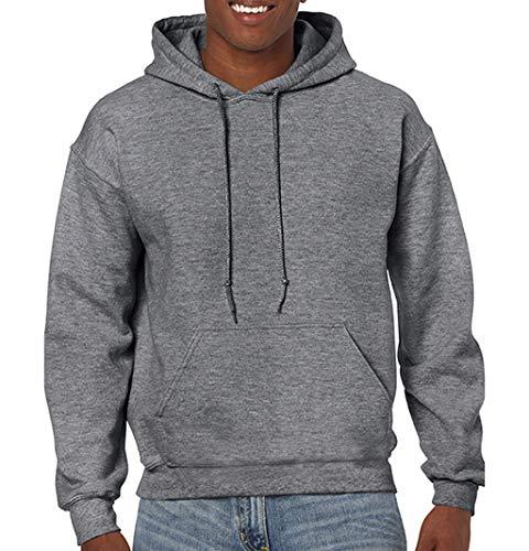 Gildan Heavy Blend Hooded Sweatshirt - 18500_Graphite Heather_Large