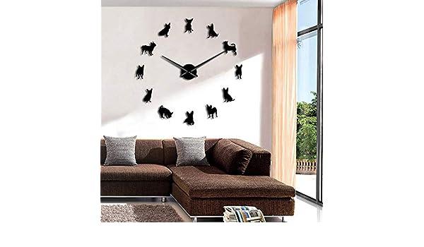 LTTA Reloj de Pared - 1 Pieza Chihuahua Perro Decorativo Gigante ...