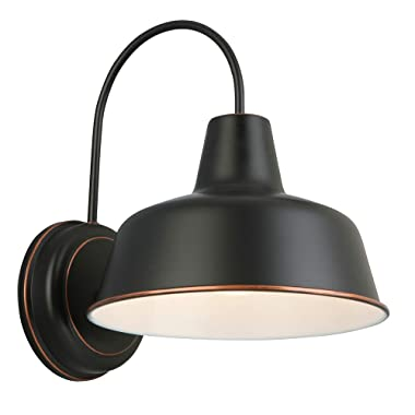 Design House 579375 Mason 1 Indoor/Outdoor Wall Light, Oil Rubbed Bronze, 10