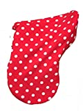 Red and White Spot Fleece Saddle Cover