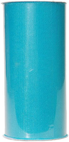 25 Yard Turquoise Fabric Tulle - Darice 2913-35 6-Inch-by-25-Yard Tulle, Turquoise