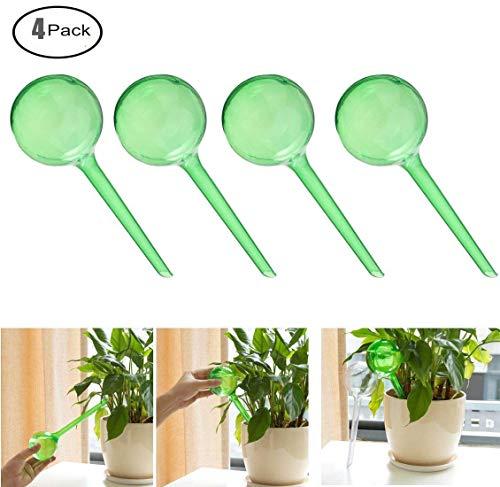 Fashionclubs Aqua Globes Small Plant Automatic Self Watering PVC Bulbs Ball,Pack of 4 (Green 2 Dia)