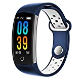 Fitness Tracker, Dosmix Activity Watch with Heart Rate, Blood Pressure and Respiratory Frequency Monitor, IP 68 Swimming-wearable with Calorie Steps Sleeps Monitor for Women Kids Men/Android IOS(Blue)