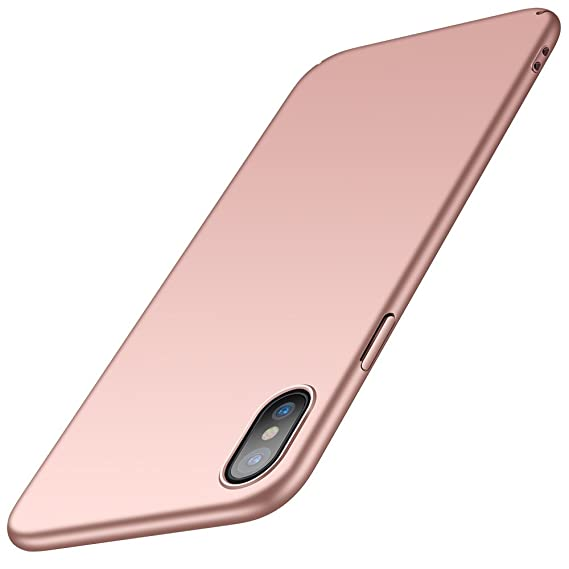reputable site 2da44 66e0b Anccer iPhone X Case Colorful Series Ultra Thin Premium Material Slim  Wireless Charging Compatible Cover iPhone Xs 2018 (Pink)