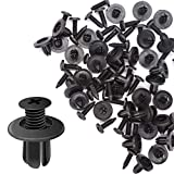 CNIKESIN 100pcs Auto Fastener Rivet Push Clips Universal Mixing Door Trunk Rack Bumper Expansion Screw Threaded Nail Plastic Interior Clips Clasp for Car Fastener