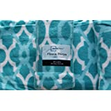 Blue Fleece Throw Blanket 50in X 60in