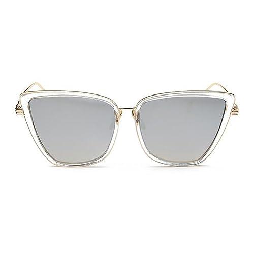 Meijunter Vidrios de la manera Gafas de sol del ojo del gato Mujeres Vidrios de sol retros del marco del metal