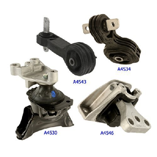 Price comparison product image Fits: 2006-2010 Honda Civic 1.8L Engine Motor & Trans Mount Set 4PCS for Auto Transmission 06 07 08 09 10 A4530HY A4534 A4543 A4546