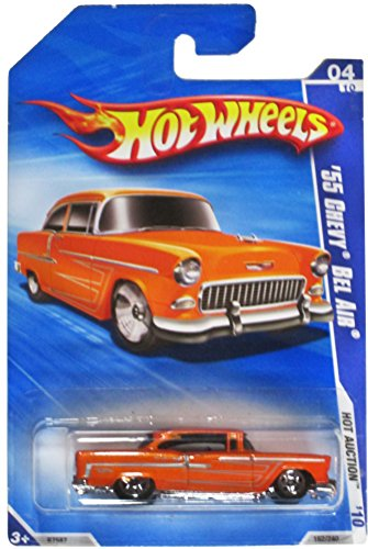 55 Chevy Body (Hot Wheels '10 Hot Auction Orange '55 Chevy Bel Air 162/240)