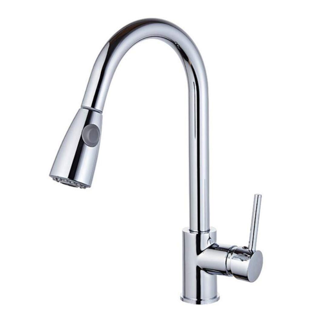Faucet Washbasin Mixernickel Kitchen Faucets Silver Single Handle Pull Out Kitchen Tap Single Hole Handle Swivel 360 Degree Water Mixer Tap Torneira