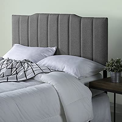 Zinus Upholstered Channel Stitched Headboard in Grey