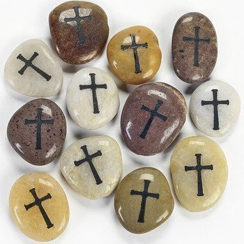 Cross Worry Stones (1 Dozen) - Bulk by Fun Express