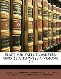 Blatt Für Patent-, Muster- und Zeichenwesen, Deutsches Patentamt, 1148782281