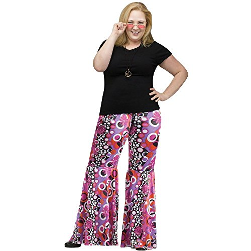 Flower Child Bell Bottoms Costume - Plus Size 1X - Dress Size (70's Costume Ideas For Men)