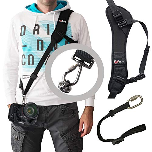 DSLR/SLR Camera Shoulder Strap,Camera Sling Strap with Quick Release Plate and Safety Tether