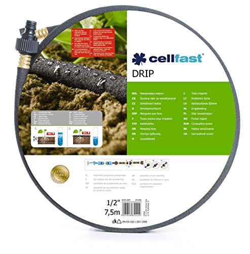 Garden Weeping Hose Drip Irrigation Watering Hosepipe 1/2 x 7,5m, Fits Hozelock by Cellfast