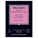 """Arches Water Colour Pad, 140lb / 300GSM, Hot Pressed, 9"""" x 12"""""""