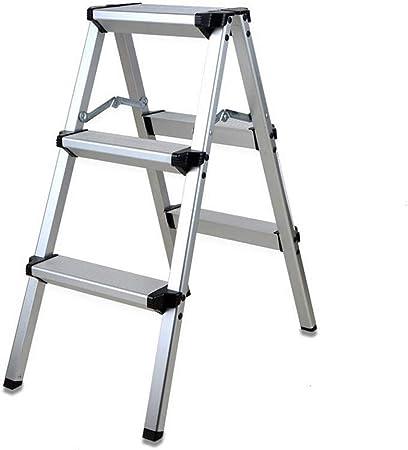LMLSH Escalera De Aluminio, Aleación De Aluminio 3/4 Capas De Trapezoide De Moda, Antideslizante Escalera Amplia De Pedales, Apto para Fotografía, Hogar Y Pintura (Size : 3 Layer): Amazon.es: Hogar