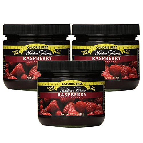 Walden Farms Calorie Free Fat Free Gluten Free Sugar Free Fruit Spreads (Raspberry, 3 Jars) (Fruit Kosher Walden Farms)