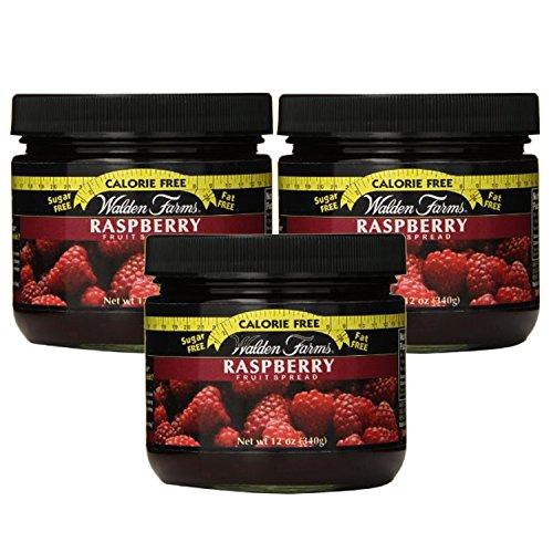 Walden Farms Calorie Free Fat Free Gluten Free Sugar Free Fruit Spreads (Raspberry, 3 Jars) (Fruit Farms Walden Kosher)