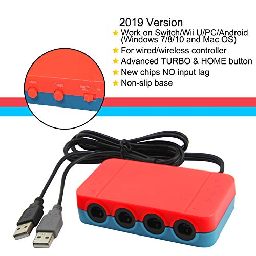 Gamecube Controller Adapter for Switch Wii U PC 4 Ports 2019