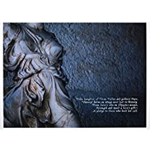 Steven C. Rockefeller, Jr. Original Hand-Painted Calligraphy and Signature (Chop) Nike 4th c. B.C. Greek Sculpture Photograph 42 x 58in. Giclée Unframed