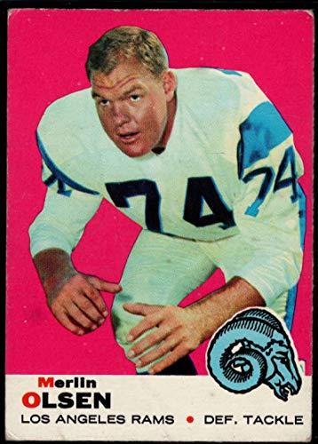 - Football NFL 1969 Topps #34 Merlin Olsen LA Rams