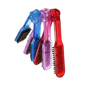 Zanteca - Cepillo alisador de pelo con cerdas de doble abrazadera para peluquería: Amazon.es: Belleza