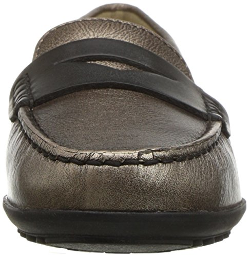 Geox Women's Elidia 5 Slip-on Loafer, Champagne/Anthracite, 35 EU/5 M US by Geox (Image #4)