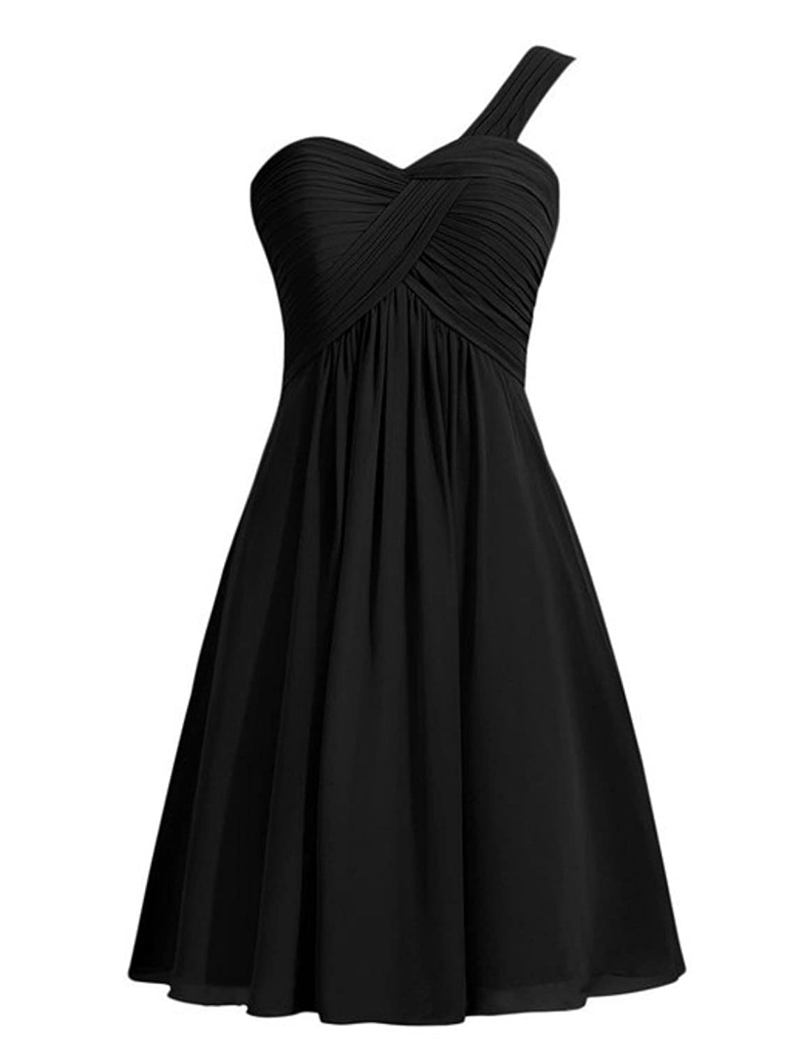 Anna's Bridal Women's One Shoulder Short Bridesmaid Dresses for Wedding Party