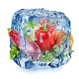 alfombrilla de ratón El cubo de hielo con verduras - ronda - 20cm
