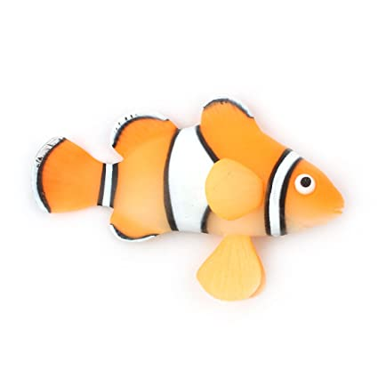 sourcing map Silicona de Acuario el pez Payaso subacuático Artificial Efecto Brillante decoración de diseño