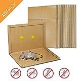 Aspectek Peanut Butter Scented Glue Traps Mouse Size Sticky Boards, ((10 Pack)