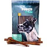 SUPER CAN BULLYSTICKS 12-inch Standard Odor Free SuperCan Bully Sticks [ 20 Pack ] Premium Free Range Beef, 100% Natural Dog Treats and Chews. (31 oz / 1.94 Pounds)