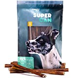 SUPER CAN BULLYSTICKS 12-inch Standard Odor Free Bully Sticks [ 8 Pack], 100% Natural Dog Treats and Chews. Healthy, Nutritious and Delicious. Dogs Favorite For Sale