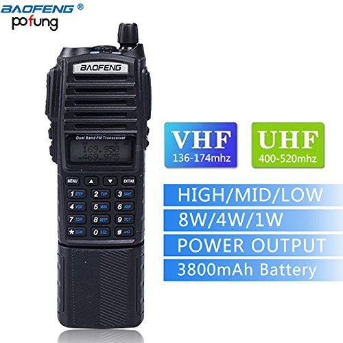 Baofeng UV-82 8W High Power 3800mAh Extended Battery Two Way Radio Dual Band Radio 136-174mhz&400-520mhz + 1 USB Programming Cable + 1 Car Charger Cable + 1 Speaker by BaoFeng (Image #3)