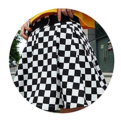 Superb Zone Women Fashion Checkerboard High Waist Skirt Streetwear Cotton Plaid Dancing Short Mini Skirts