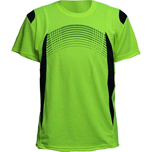 - UV Sun Protection Sport T Shirts for Men Short Sleeve Athletic Tee Yellow