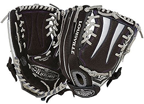 Louisville Slugger Zephyr Softball Mitt, Right Hand Throw, Black, 12