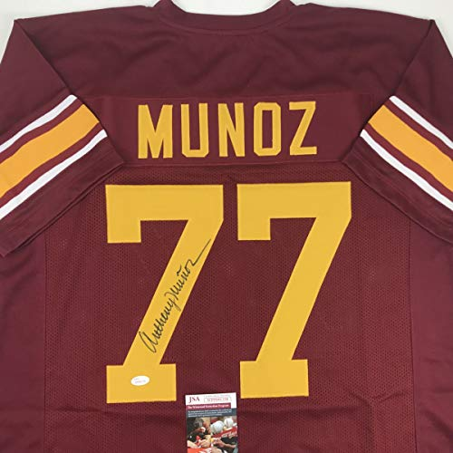 Autographed/Signed Anthony Munoz USC Maroon College Football Jersey JSA COA
