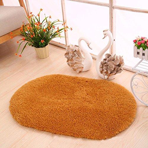 40cm x 60cm Anti-Slip Soft Floor Rug Carpet Bathroom Bedroom Bath Shower Mat (White) - 3