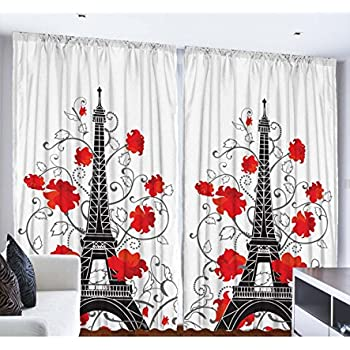 This Item Eiffel Tower Paris Decor For Bedroom Digital Print Curtains City  Decor Living Room Decorations Accessories French Style Paris Curtain Two  Panels ...